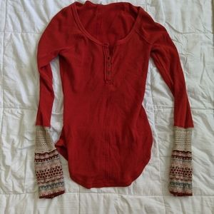 Free People knotted sweater